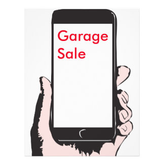 Smartphone yard sale. flyer
