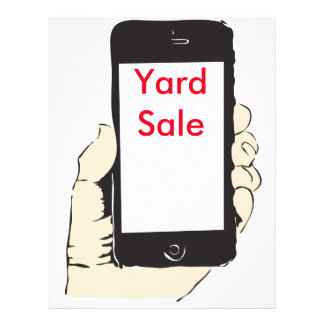 Smartphone yard sale flyer