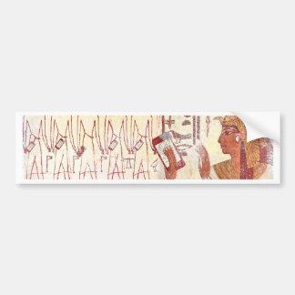 Smartphones de Egipto antiguo Pegatina De Parachoque