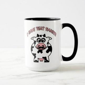 Smarts del pezón de la vaca del bigote taza