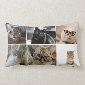 Smarty Cats Lumbar Throw Pillow