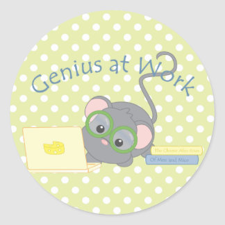 Smarty Mouse Classic Round Sticker