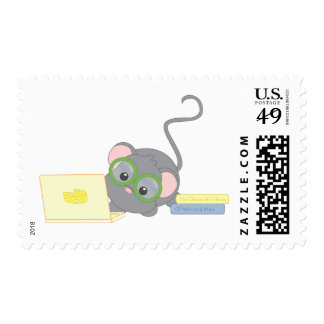 Smarty Mouse Postage Stamp