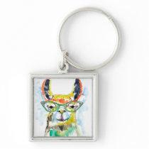 Smarty-Pants Llama Keychain