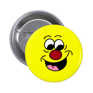 Smarty Pants Smiley Face Grumpey 2 Inch Round Button