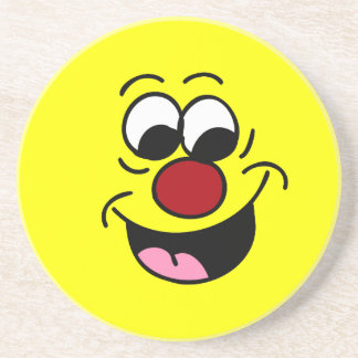 Smarty Pants Smiley Face Grumpey Drink Coaster