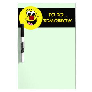 Smarty Pants Smiley Face Grumpey Dry Erase Board