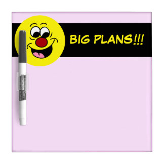 Smarty Pants Smiley Face Grumpey Dry-Erase Board