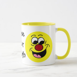 Smarty Pants Smiley Face Grumpey Mug