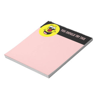 Smarty Pants Smiley Face Grumpey Notepad