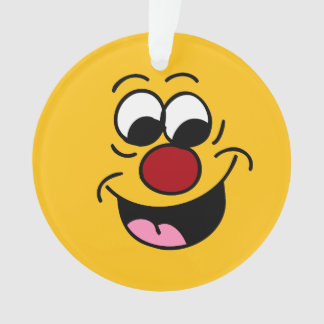 Smarty Pants Smiley Face Grumpey Ornament