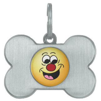 Smarty Pants Smiley Face Grumpey Pet Tag