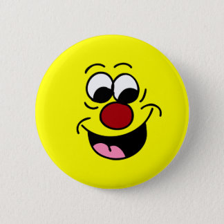 Smarty Pants Smiley Face Grumpey Pinback Button