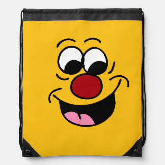 Smarty Pants Smiley Face Grumpey Drawstring Backpack