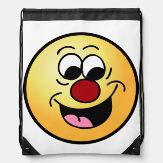 Smarty Pants Smiley Face Grumpey Drawstring Bags