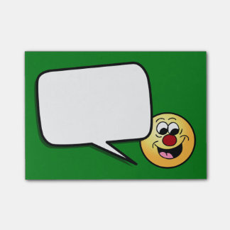 Smarty Pants Smiley Face Grumpey Post-it® Notes