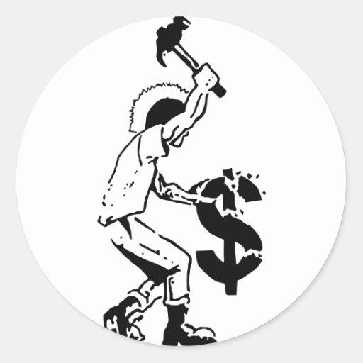 Smash Capitalism Classic Round Sticker