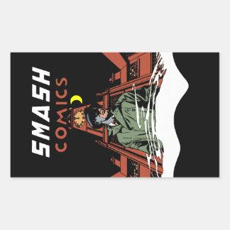 Smash Comics Rectangular Sticker