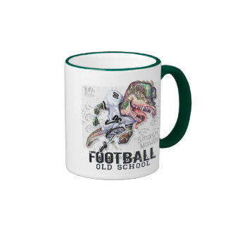 Smash Mouth Dinosaur Football By Mudge Studios Ringer Mug