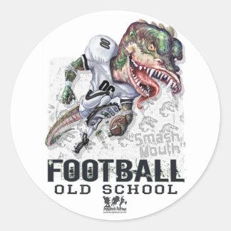 Smash Mouth Dinosaur Football Gear Classic Round Sticker