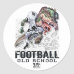 Smash Mouth Dinosaur Football Gear Classic Round Sticker
