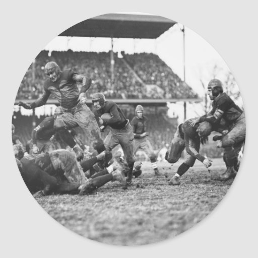 Smash Mouth Football, 1923 Classic Round Sticker