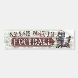 Smash Mouth Football Bumpersticker Bumper Sticker