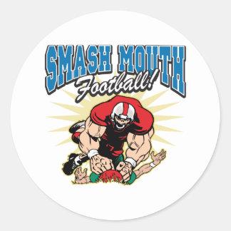 Smash Mouth Football Classic Round Sticker