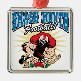 Smash Mouth Football Metal Ornament