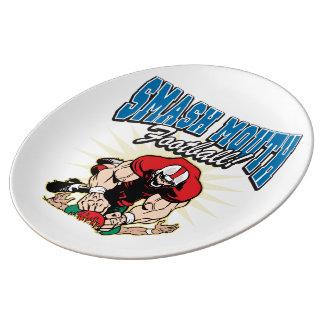 Smash Mouth Football Porcelain Plate