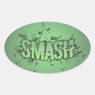 Smash Oval Sticker
