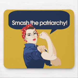 Smash the Patriarchy Feminist Saying Mouse Pad