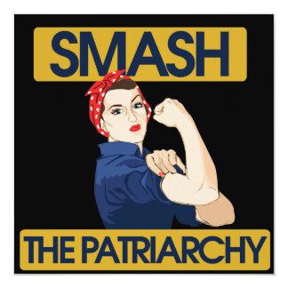 Smash the Patriarchy 5.25x5.25 Square Paper Invitation Card