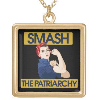 Smash the Patriarchy Custom Necklace