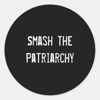 Smash the Patriarchy Classic Round Sticker