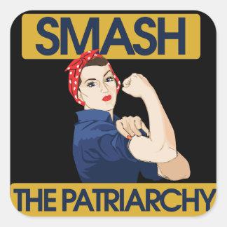 Smash the Patriarchy Square Sticker
