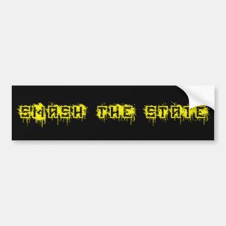 Smash the State Bumper Sticker