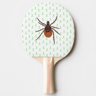 Smash the Tick Lyme Disease Awareness Paddle Ping-Pong Paddle
