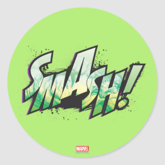 SMASH! Word Graphic Classic Round Sticker