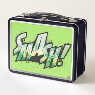 SMASH! Word Graphic Metal Lunch Box