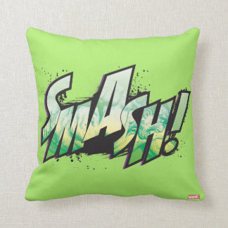 SMASH! Word Graphic Throw Pillow