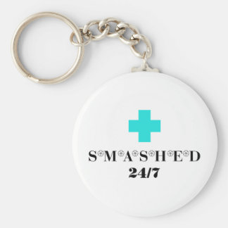 Smashed 24X7 Basic Round Button Keychain