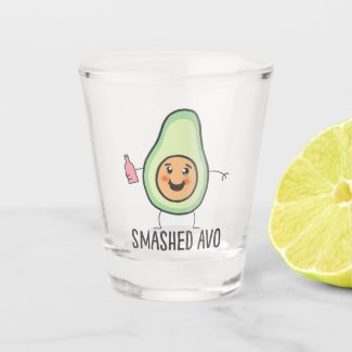 Smashed Avo Funny Drunk Kawaii Avocado Shot Glass