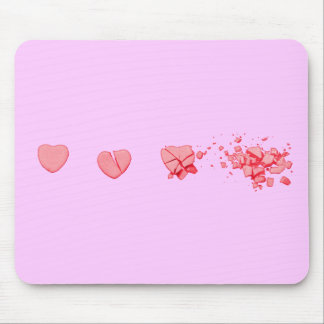 Smashed Candy Heart Mouse Pad