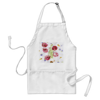 Smashed flowers craft, bougie red and green apron