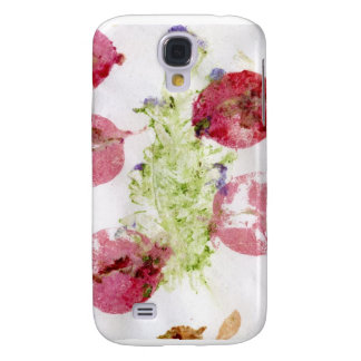 Smashed flowers craft, bougie red and green samsung galaxy s4 covers
