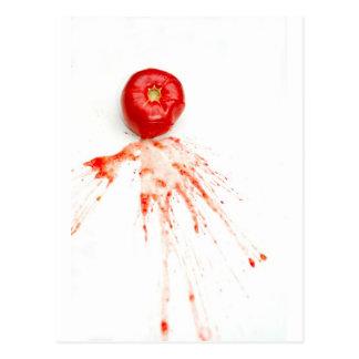 Smashed Tomato Postcard