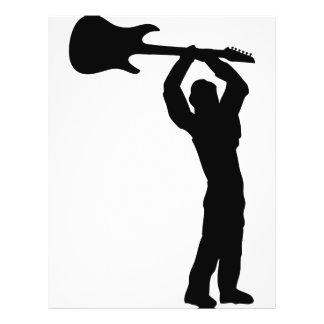 "smasher de la guitarra de la roca folleto 8.5"" x 11"""