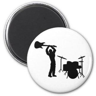Smasher de la guitarra del tambor de Rockstar Imán Redondo 5 Cm