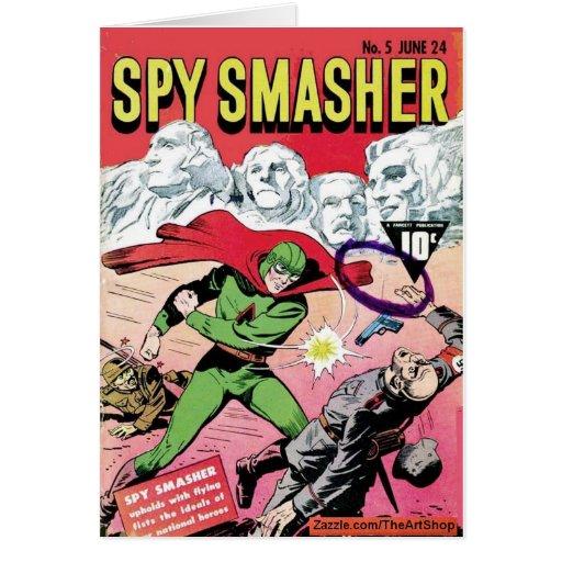 Smasher del espía tarjeta de felicitación